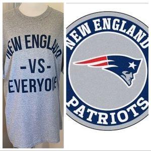 New England Patriots VS Everyone Gray TShirt Large